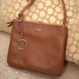 NINE WEST Crossbody Tan Brown Leather Purse